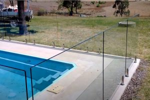 Glendale Fence Installation glass pool fence project