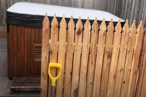 Glendale Fence Installation wood hot tub fence