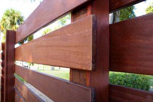 Glendale horizontal wood fence project